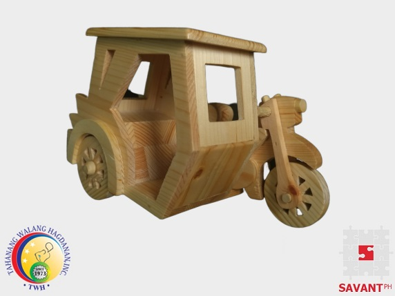 Decorative Wooden Tricycle Handicraft