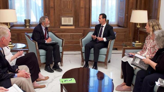 El presidente sirio llama a EEUU a dejar su estrategia de caos y destrucción