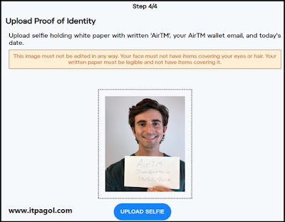 take a selfie Holding a document