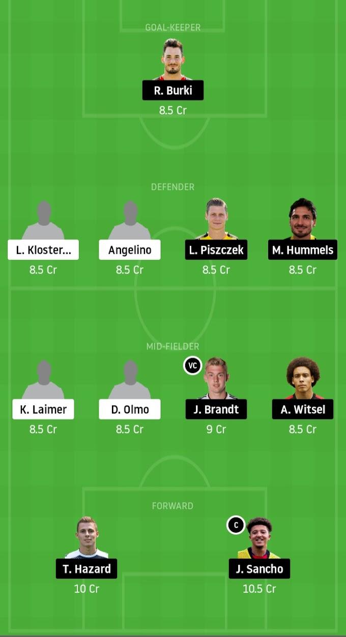 Bundesliga 2019-20 - Borussia Dortmund Vs RB Leipzig Dream11 Prediction