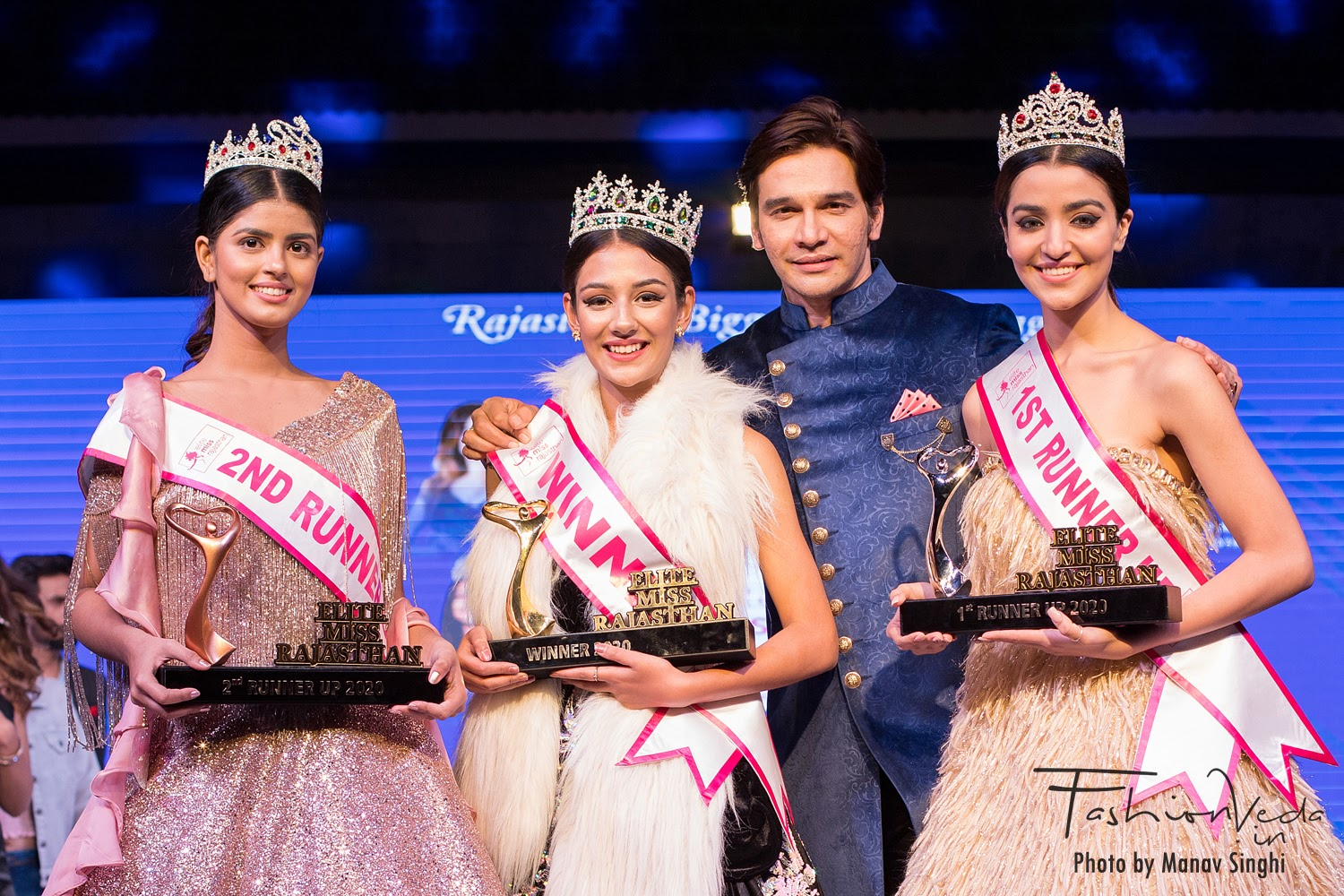 Mentors And Judges With Top Three Winners of Elite Miss Rajasthan 2020