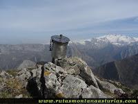 Buzón del Pico Teyéu en Amieva