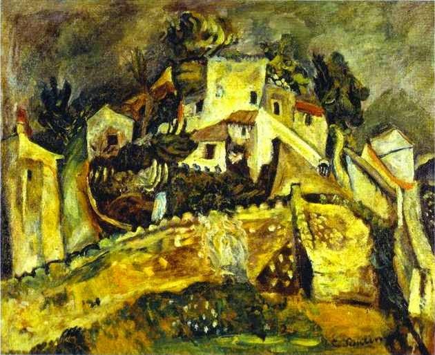Paisagem em Cagnes - Chaïm Soutine e seu expressionismo violento e atormentado