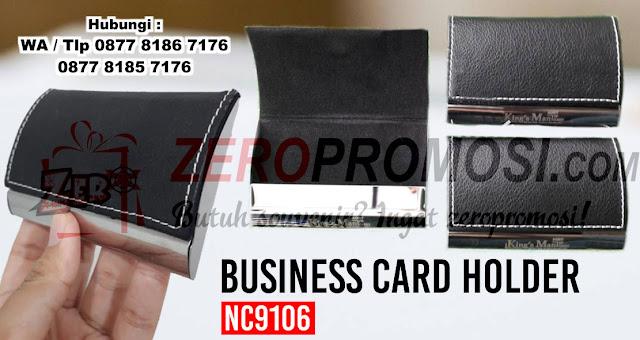 souvenir business card kulit, leather card case, kotak kartu nama kulit sintetis, souvenir premium