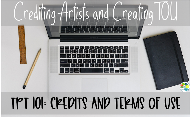 Selling on TPT 101: Credits and Terms of Use | Apples to Applique