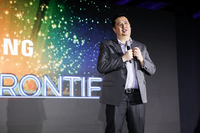 Samsung Marketing Director Chad Sotelo during the Samsung QLED TV launch at OKADA Hotel
