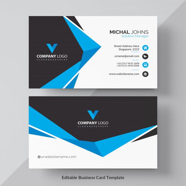 Blue elegant corporate card free vector Free Vector
