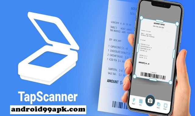 تطبيق TapScanner v2.5.44 لمسح الوثائق عن طريق كاميرا كامل بحجم 24 MB للأندرويد