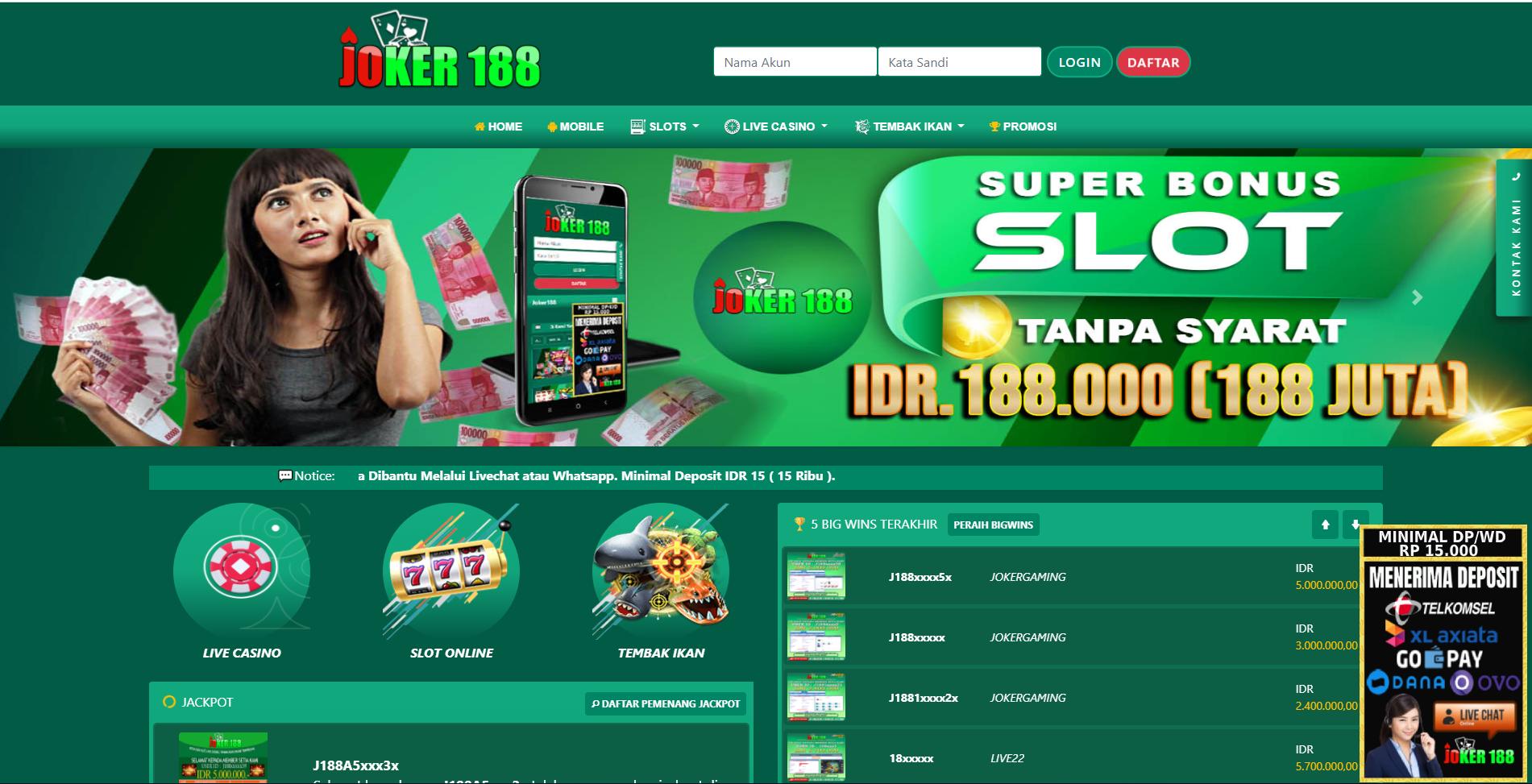 Joker188 Situs Mesin Slot Online Deposit Aplikasi Linkaja Welcome Liferay