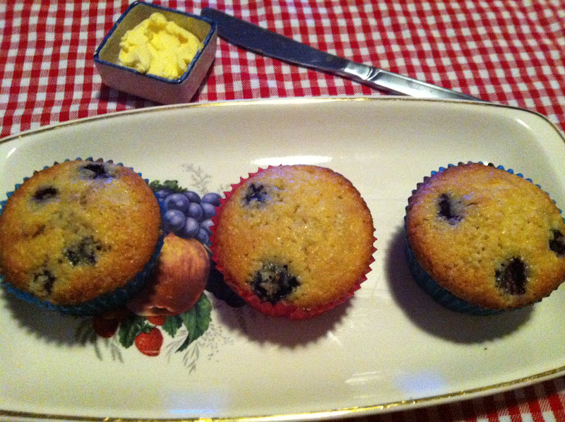 Blueberry Corn Muffins | Laws of the Kitchen