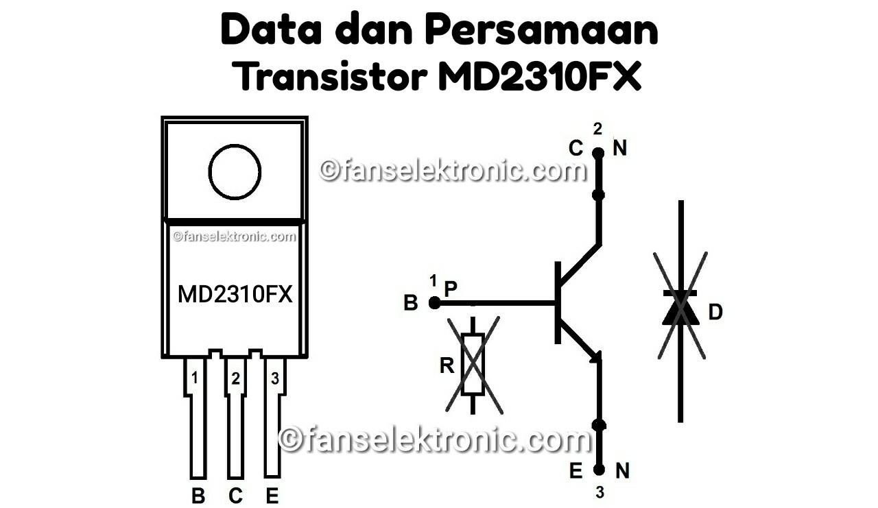 Persamaan Transistor MD2310FX