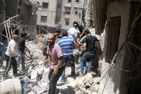 مقتل 45 مدنيًا في قصف مدفعي للنظام السوري على حلب