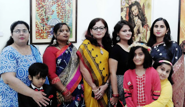 Women empowerment showing in painting exhibition in Lucknow