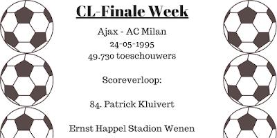 Ajax - AC Milan 1-0 84. Patrick Kluivert Champions League Finale