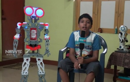 14 years boy from cuddalore have invented a robot: Detailed
