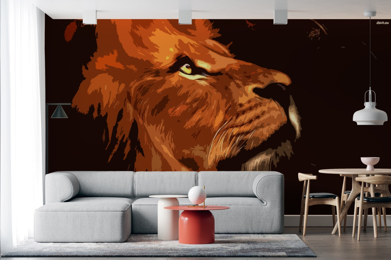 wallpaper ruang tamu elegan