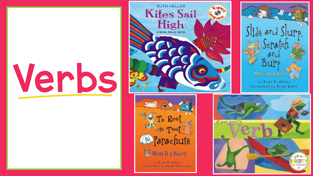 Here is a list of picture books to teach verbs. Use these to introduce verbs and engage your upper elementary students.