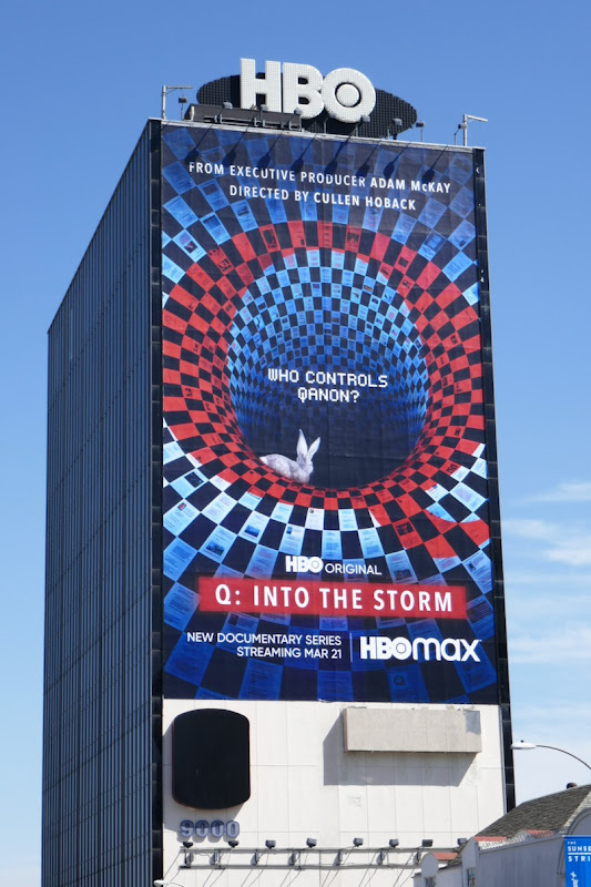 Giant Q Into the Storm HBO Max billboard