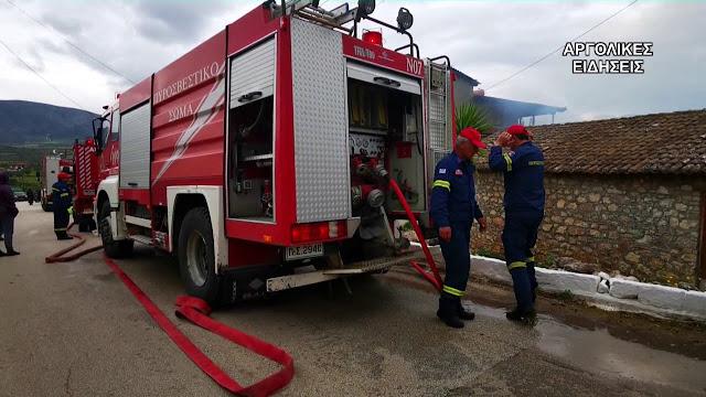Πυρκαγιά σε οικία που διαμενουν Ρομά στο Λάλουκα Άργους