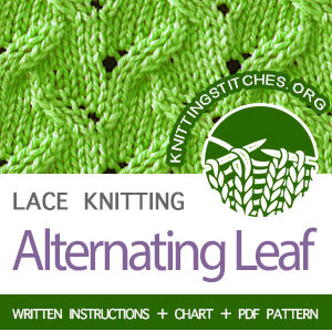 HOW TO KNIT the Alternating Leaf stitch  #howtoknit #knitting