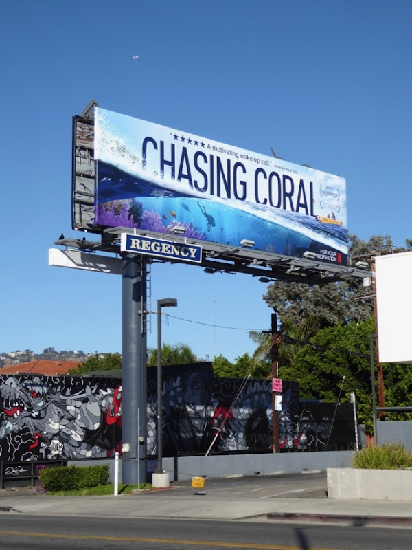 Chasing Coral documentary FYC billboard