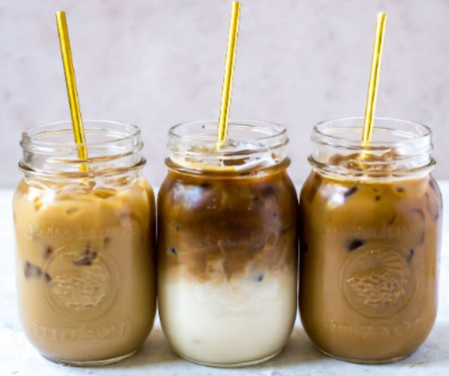 THREE ICED COFFEE RECIPES CARAMEL VANILLA AND MOCHA