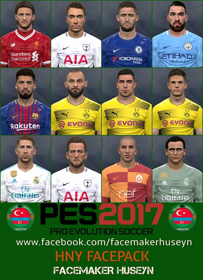 PES 2017 Happy New Year FACEPACK by Facemaker Huseyn