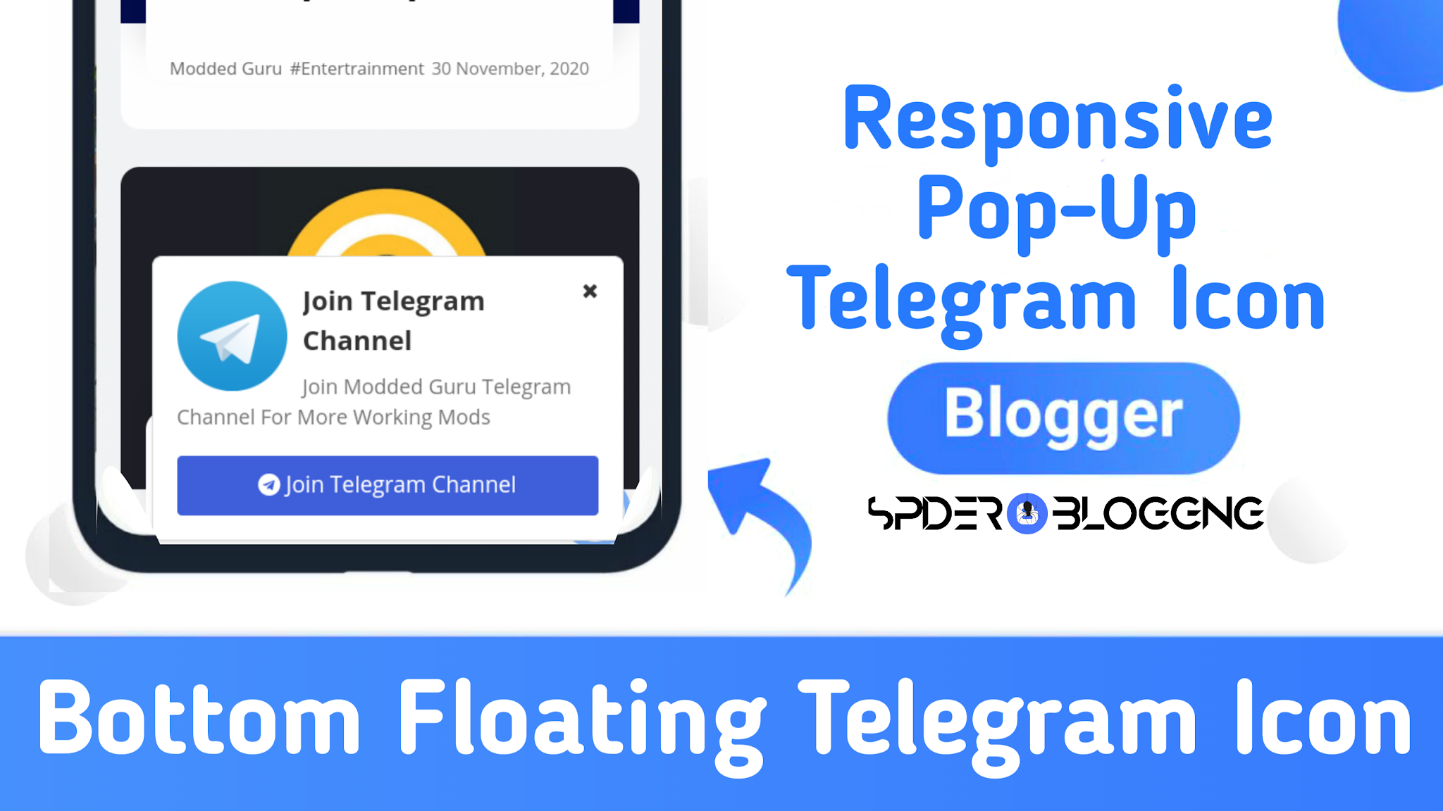 How To Create Responsive Floating Sticky Telegram Join Button   Spider Blogging