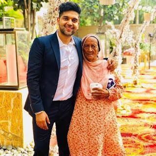 Guru Randhawa with his Grandmother, family