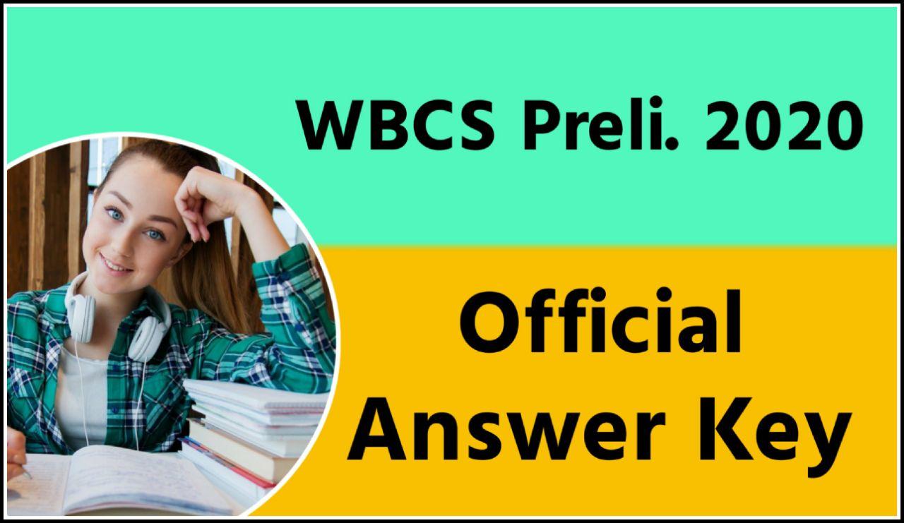 WBCS Preliminary 2020 Official Answer Key PDF Download