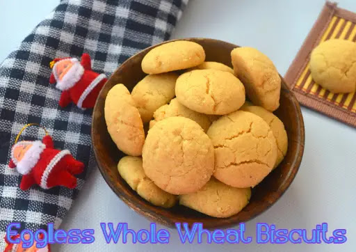 Eggless Whole Wheat Biscuits – Jeera & Atta Biscuits at home