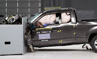 F-150 small-overlap crash test