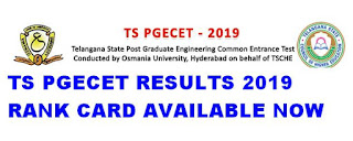 Manabadi TS PGECET Results 2019 Rank Card Available now @ pgecet.tsche.ac.in 1