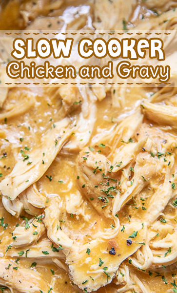 #slowcooker #Chicken and #Gravy #recipe #comfortfood