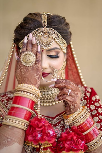 Indian Bridal Wedding Hair & Makeup Looks