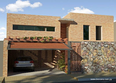 Casa residencial moderna contemporánea en Paraguay