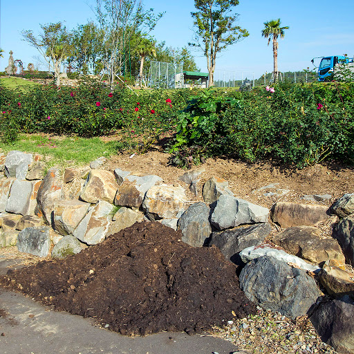 石垣と堆肥