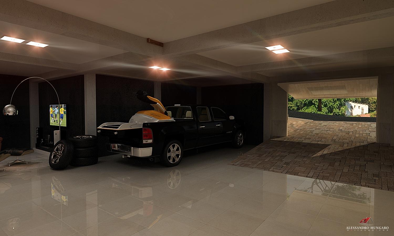 Arquitetura e Interiores Garagem Moderna Subsolo