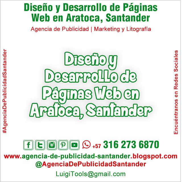Diseño y Desarrollo de Páginas Web en Aratoca, Santander. Colombia
