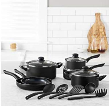 AmazonBasics 15-Piece Non-Stick Cookware Set For Your Daily Kitchen Utensils Need