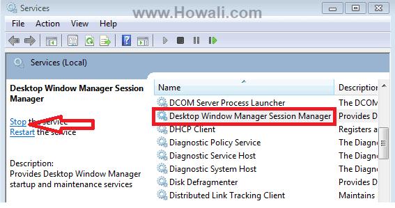 Desktop Window Manager Session