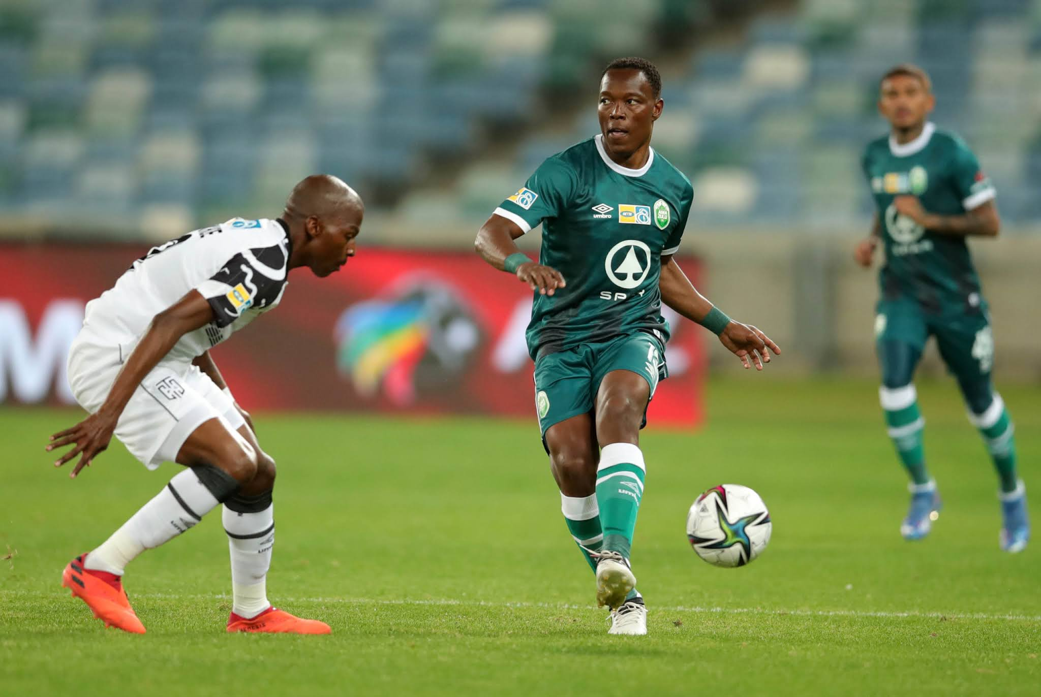 AmaZulu defender Philani Zulu in action against Cape Town City