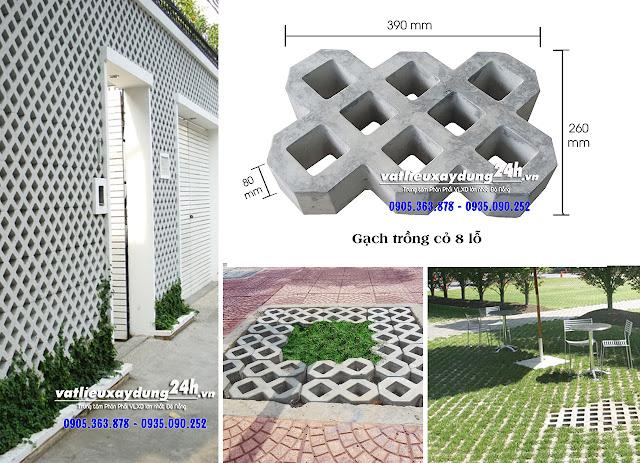 gạch block trồng cỏ lát sân vườn