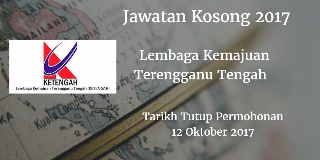 Jawatan Kosong KETENGAH 12 Oktober 2017