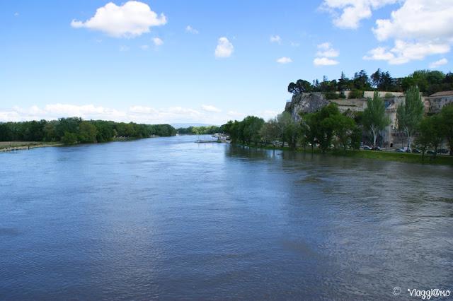 Panorama sul Rodano dal Ponte Saint Benezet di Avignone
