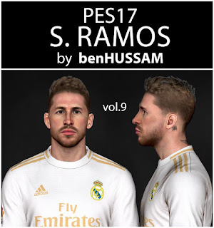 PES 2017 Faces Sergio Ramos by BenHussam
