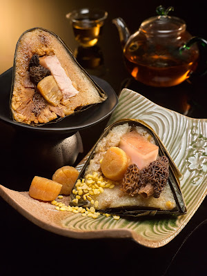 羊肝菌干贝咸肉粽