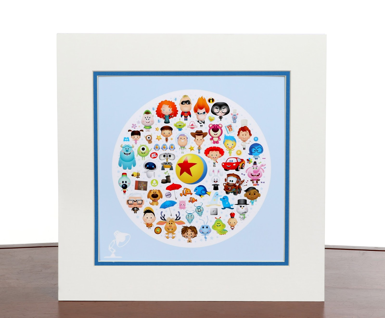 """World of Pixar"" Print by Illustrator Jerrod Maruyama"
