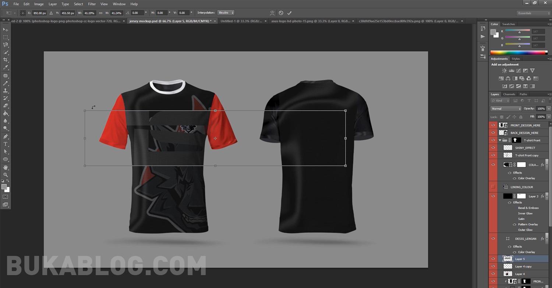 Edit mockup jersey di photoshop