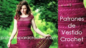 Patrones de Vestido Calado a Crochet